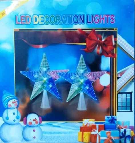 puntal estrella navidad c/ luces led caja oferta