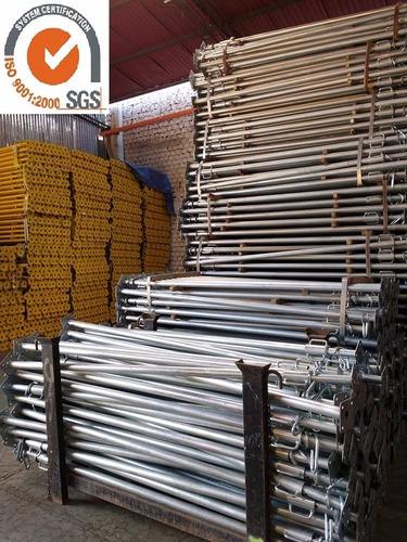 puntales galvanizados 4m - poseidon - certificados x sgs