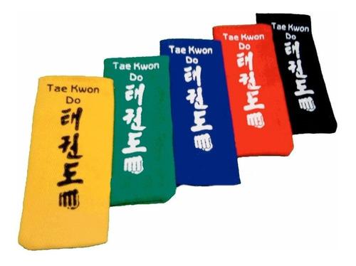puntas cinturón artes marciales taekwondo karate cosidas