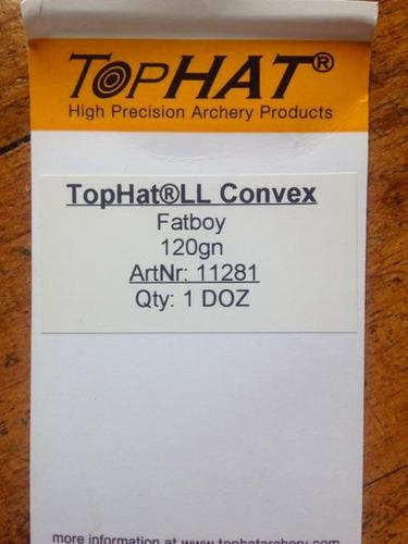 puntas tophat ll convex fatboy 120 grains