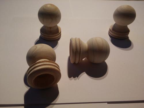 puntero de madera para barrote de cortina 23mm. oferta x 10.