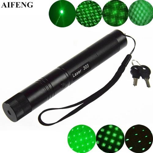 puntero laser verde 1000mw - efecto lluvia +18650+cargador