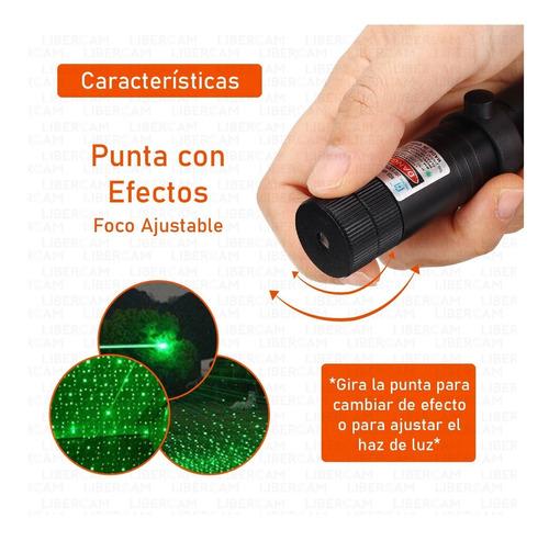 puntero laser verde muy potente punto o efecto lluvia +18650