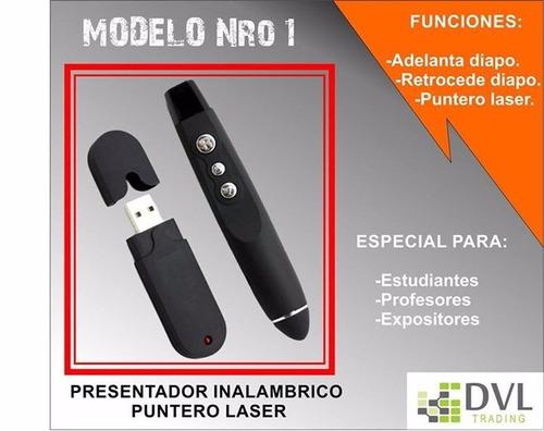 puntero laser y presentador de diapositivas