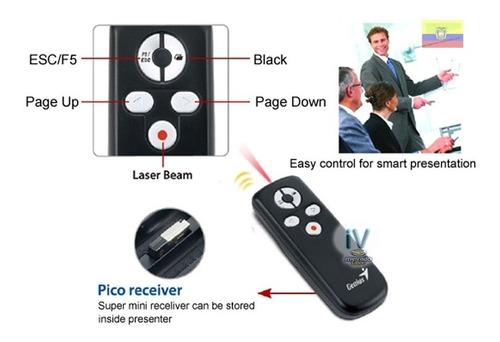 puntero laser y presentador inalambrico genius media pointer