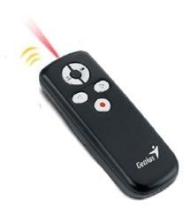 puntero presentador laser genius media pointer 100 2.4ghz