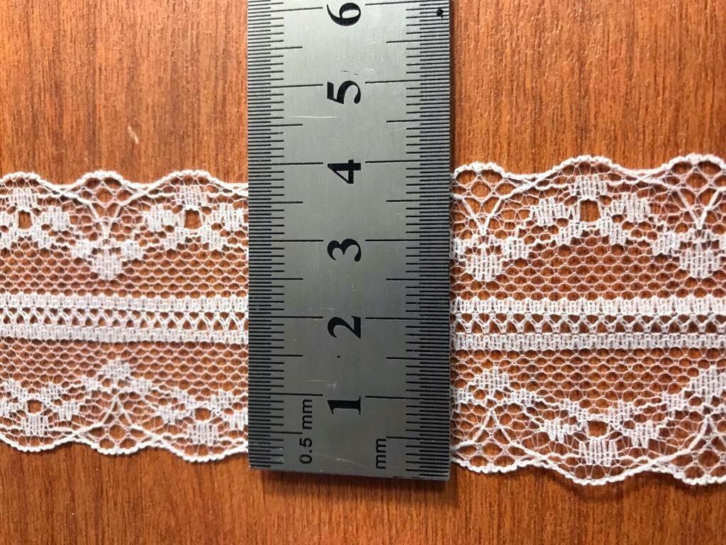 109cfa30a puntilla nylon blanco 4 cm doble x 10 mts ideal para teñir. Cargando zoom.