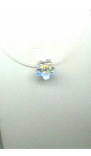 punto de luz cristal swarovski flor ab,