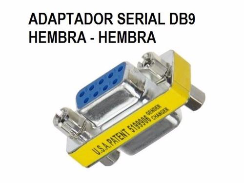 puntotecno - adaptador copla serial db9 h-h