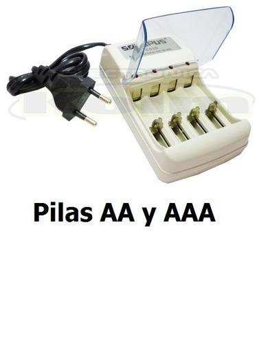 puntotecno - cargador 4 pilas a a y a a a