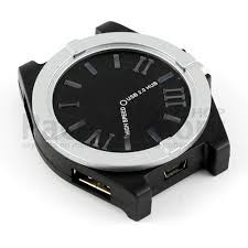 puntotecno - hub usb 2.0 modelo reloj