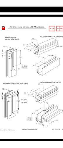 punzonado/ frezado/ corte de perfiles de aluminio módena.