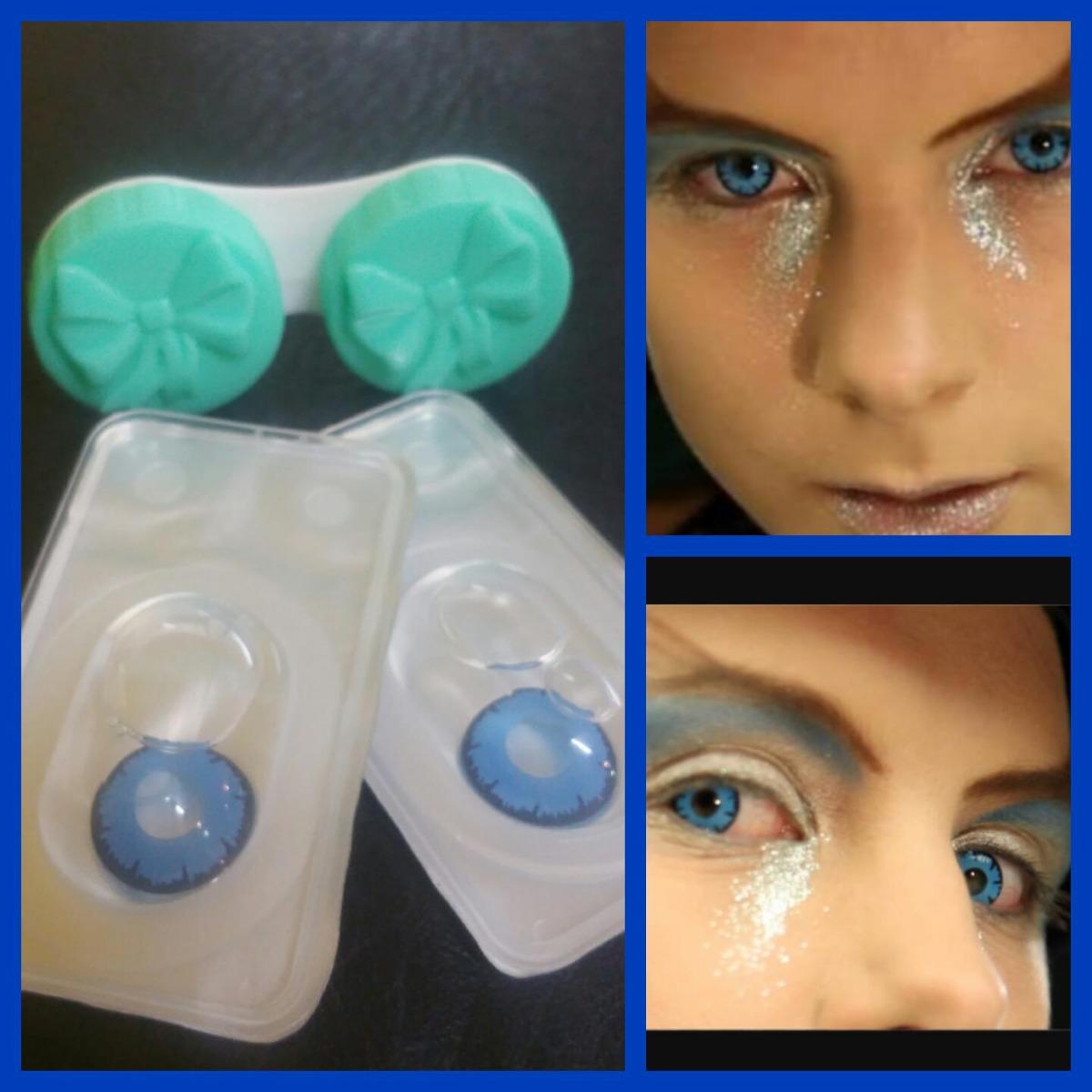 bd8a9b4207400 Pupilentes Anime Cosplay Lolita Big Eye Azul -   350.00 en Mercado Libre