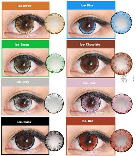 pupilentes circle lens ice - envio gratis