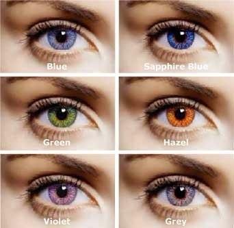 Pupilentes fresh look colors 6 colores diferentes - Colores verdes azulados ...