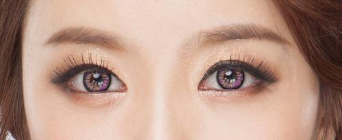 pupilentes giyomi excelente diseño big eye + case  lo mejor