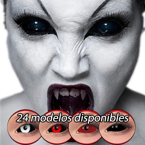 pupilentes halloween sclera negros 22mm riennegan ichigo