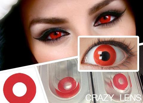 pupilentes rojos halloween crazy lens