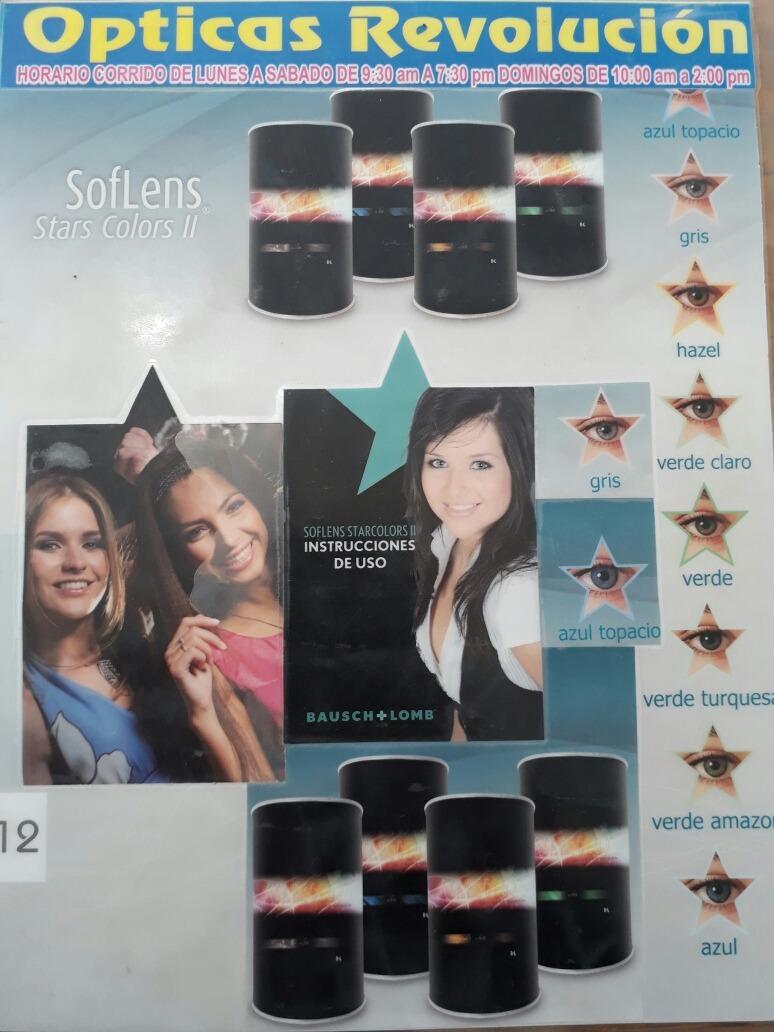 6b7fe3ec858ae Pupilentes Star Colors De Color -   250.00 en Mercado Libre