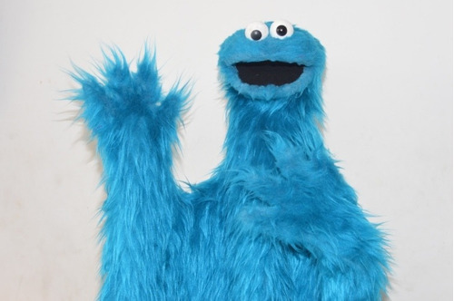 puppet muppet cookie monster cone galletas