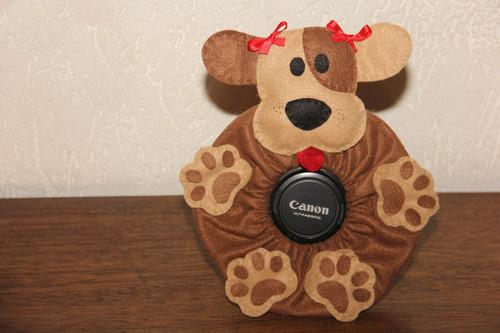 puppet/acessório para câmera fotográfica - cachorrinho