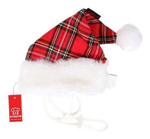 puppy santa claus hat