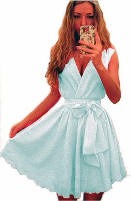 pura ganga: hermoso vestido de fiesta escote profundo