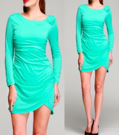 pura ganga: mini vestido oriental manga larga varios colore