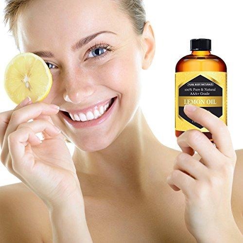 pure body naturals aceite esencial de limón de grado terapé