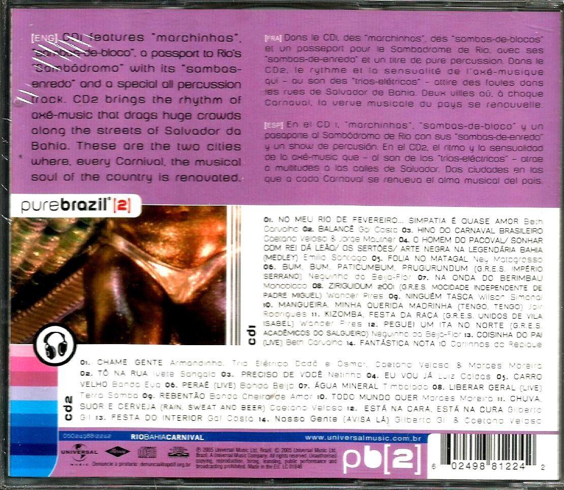 Pure Brazil Rio Bahia Carnival 2 Cds Sellado Soundtrack