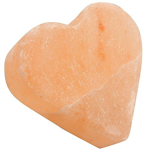 pure himalayan salt works heart massage stone