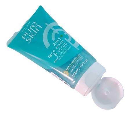 pure skin gel exfoliante facial limpiez - ml a $220