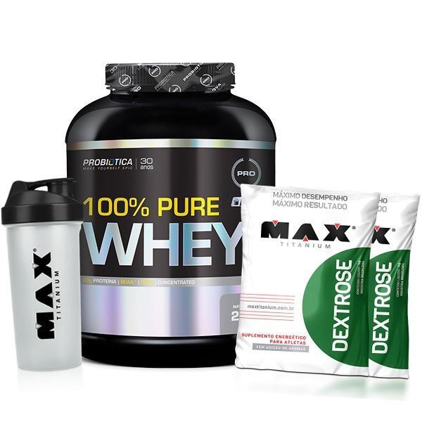 Pure Whey (probiotica) + 2x Dextrose (max Titanium) + Shaker - R ... 8d68e43b557b4