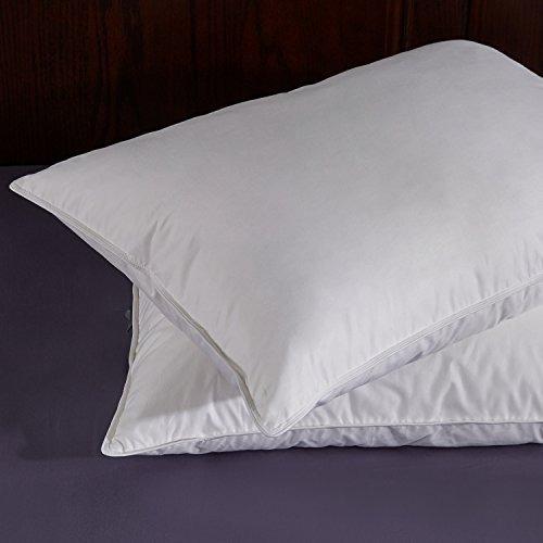 Puredown blanca pluma de ganso y abajo almohada rey - Almohada pluma de ganso ...