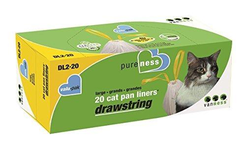 pureness cordón grande valu-pak cat pan liners, 20 cuenta