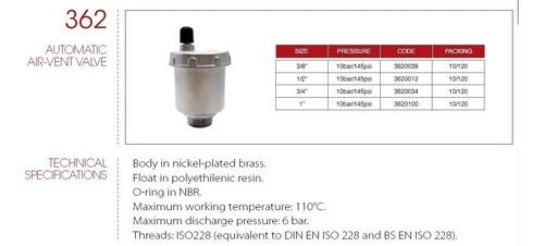 purgador automatico de aire genebre itap 1 art. 5362