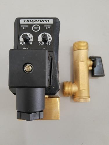 purgador eletrônico 1/2 220 v com filtro y e registro de ar.