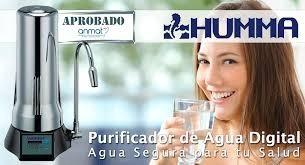 purificador agua humma digital cromado filtro sobre mesada +