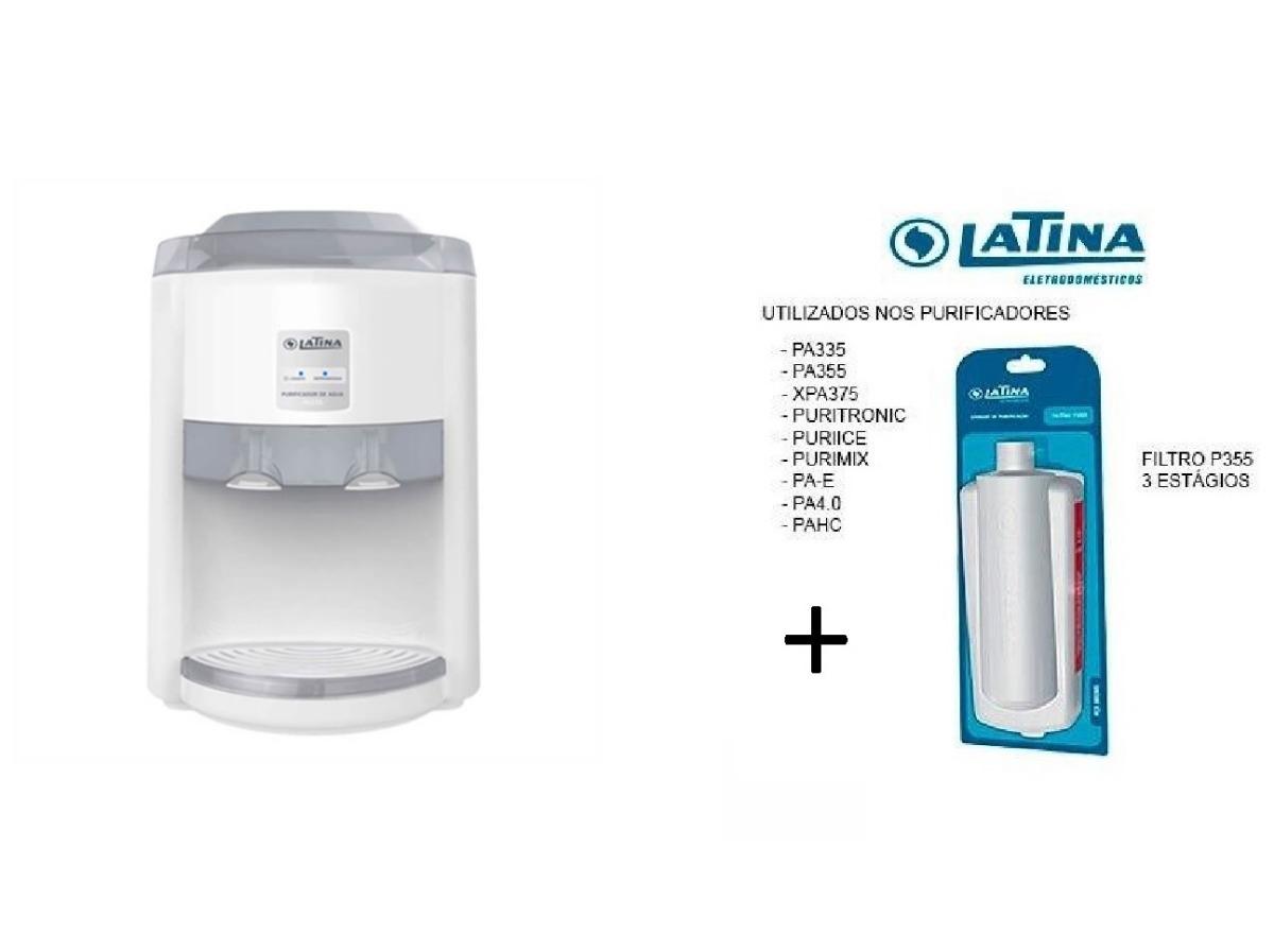 61c7aeb8210 purificador agua latina pa335 gelada refrigerado gas free. Carregando zoom.