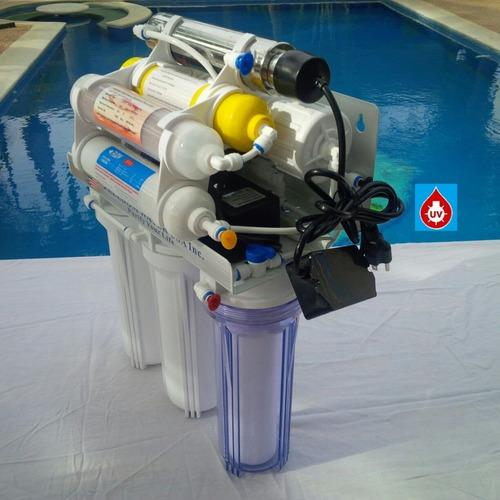 purificador  agua osmosis freedom water u s a 9 etapas u v