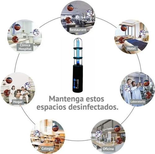 purificador aire lampara ozonizador uv-c ozono portatil 9m2
