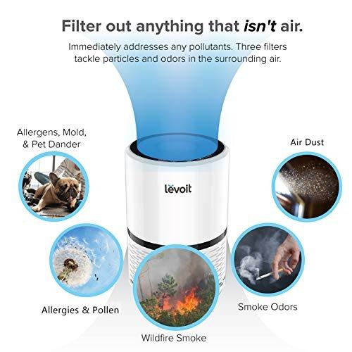 purificador aire levoit lv-h132  hogar  verdadero filtro he