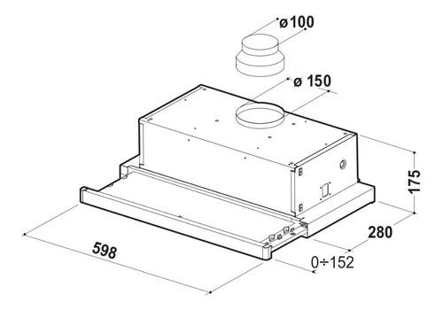 purificador campana cocina spar flexa acero 60cm sin salida