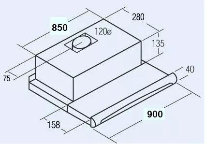 purificador cata deslizable linea tf5290 acero 90cm oferta