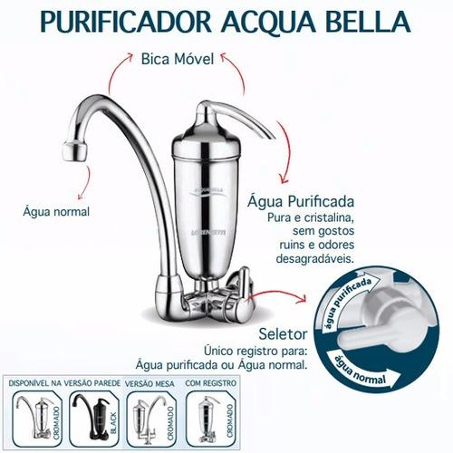 purificador de agua com torneira cromada + 3 refil extra
