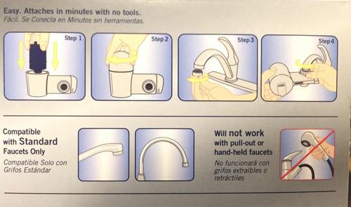 purificador de agua para llave con indicador 2 filtros