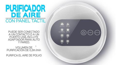 purificador de aire con panel táctil prevención de alergia