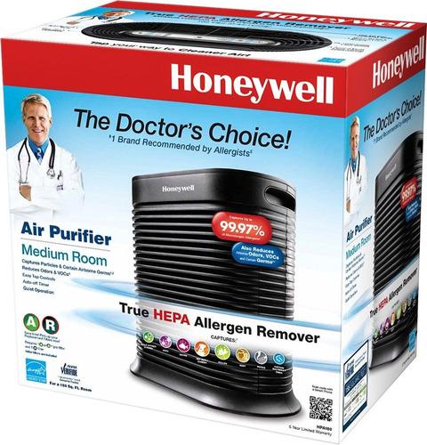 purificador de aire honeywell hpa100 true hepa 14.4m² negro
