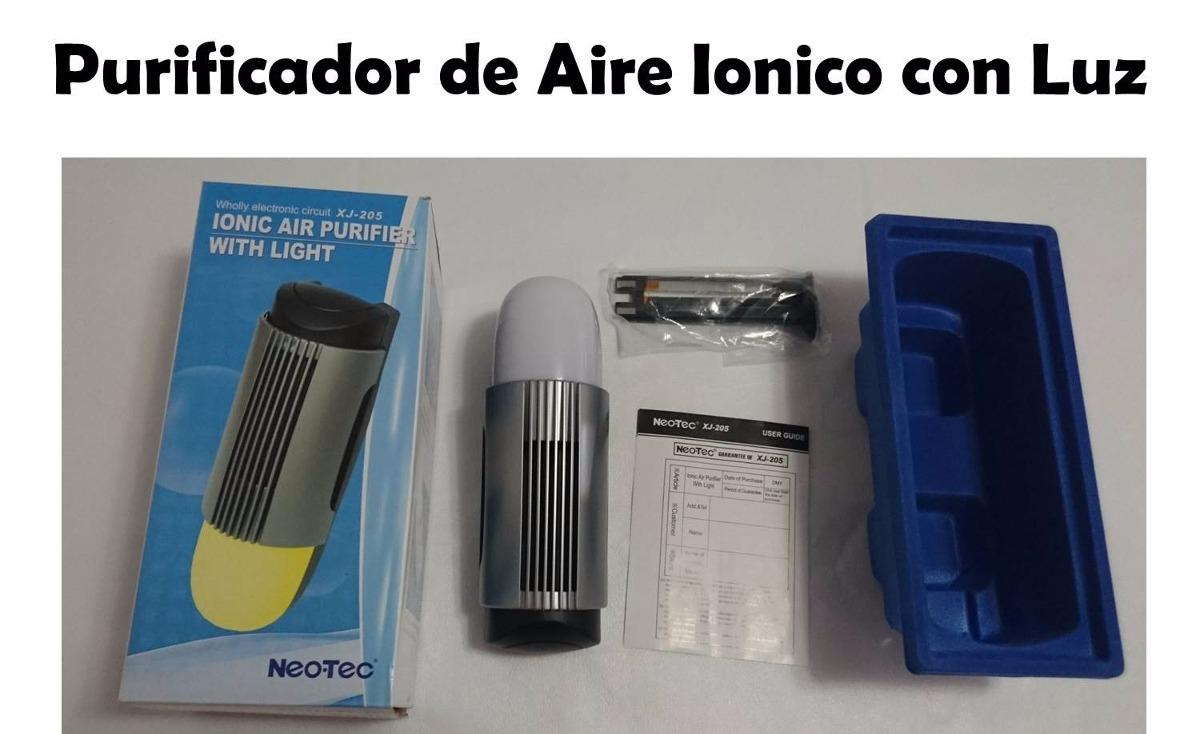 purificador de aire ionico con luz Cargando