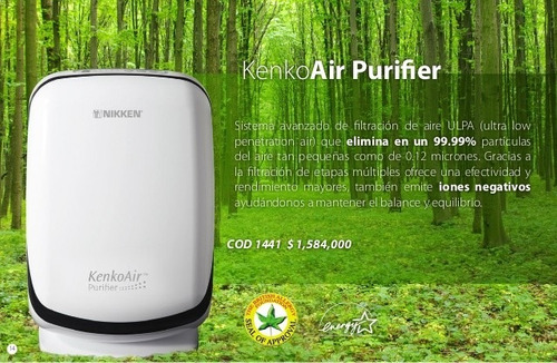 purificador de aire ionizado nikken 99.99% puro filtro ulpa